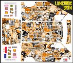 Orange Stickerbomb themed vinyl SKIN Kit & Stickers Fits Tamiya Lunchbox R/C Monster Truck